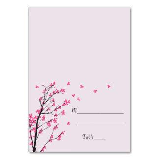 Cherry Blossom Stem - Escort Card Table Cards
