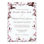 Cherry Blossoms Border Wedding Invite