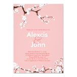 Cherry Blossoms Bridal Shower Personalised Announcement
