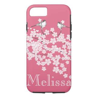 Cherry Blossoms Chickadee iPhone 7 case