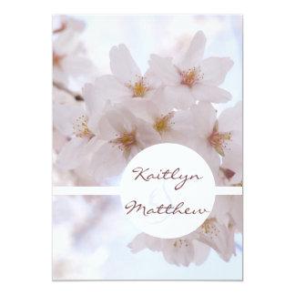 Cherry Blossoms Custom 13 Cm X 18 Cm Invitation Card