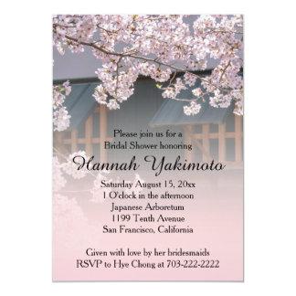 Cherry Blossoms Flowers Bridal Shower Invitation