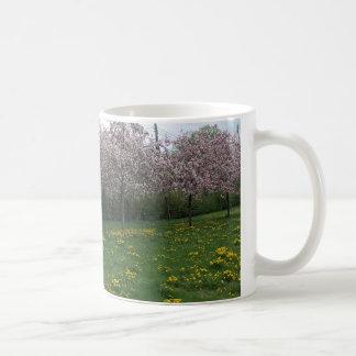 Cherry Blossoms in HOMA Basic White Mug
