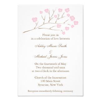 Cherry Blossoms in Pink Wedding 13 Cm X 18 Cm Invitation Card