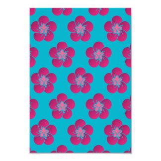 Cherry Blossoms Pink Pattern Sakura 9 Cm X 13 Cm Invitation Card
