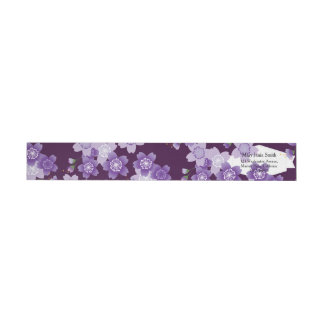 Cherry Blossoms Purple Sakura Wrap Around Label
