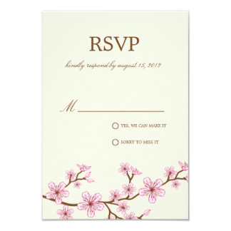 CHERRY BLOSSOMS | RSVP 9 CM X 13 CM INVITATION CARD