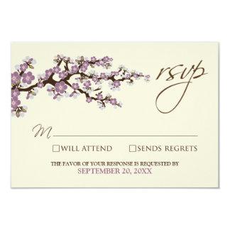 Cherry Blossoms RSVP Card (lavender)