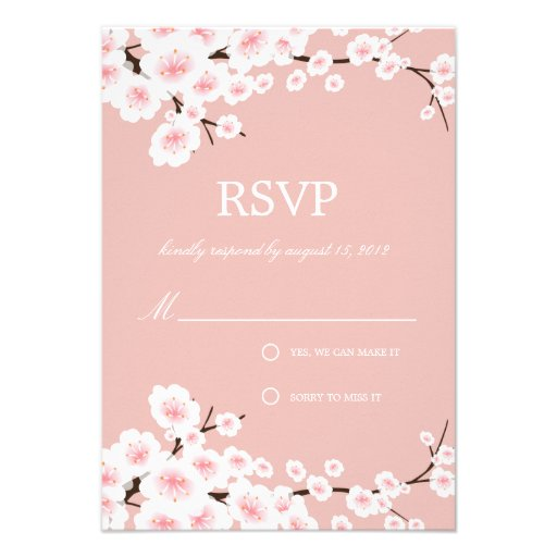 CHERRY BLOSSOMS   RSVP PERSONALIZED ANNOUNCEMENTS