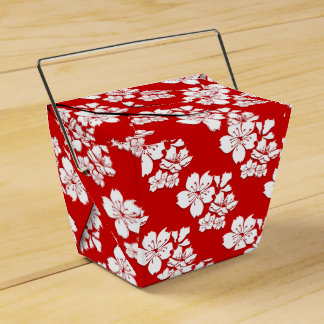 Cherry blossoms sakura red japanese party favour box