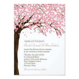 Cherry Blossoms / Sakura Watercolor Wedding 13 Cm X 18 Cm Invitation Card