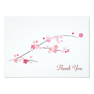 Cherry Blossoms Thank You Card 13 Cm X 18 Cm Invitation Card