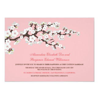 Cherry Blossoms Wedding Invitation (baby pink)