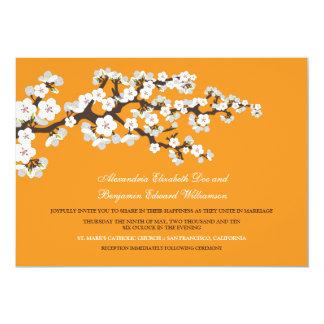 Cherry Blossoms Wedding Invitation (orange)