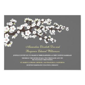 Cherry Blossoms Wedding Invitation (platinum)