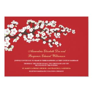 Cherry Blossoms Wedding Invitation (red)