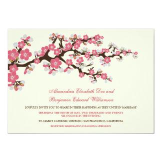 Cherry Blossoms Wedding Invitation (rose pink)