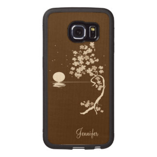 Cherry Blossoms Wooden Samsung Galaxy S6 Edge Case