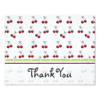 Cherry Flat Thank You Card Invitations