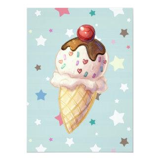 Cherry Fudge Icecream Card