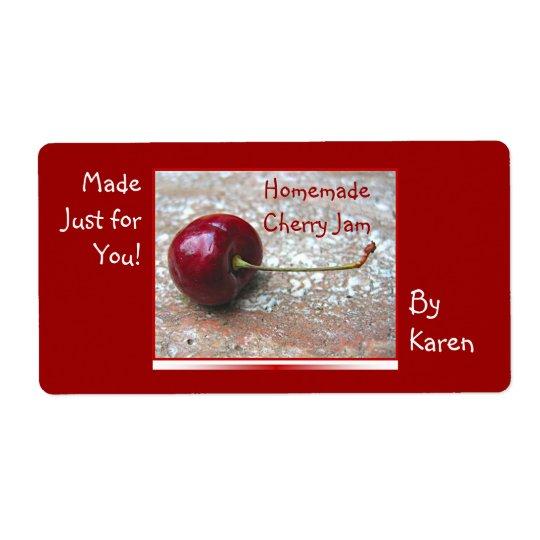 Cherry Jam label Shipping Label