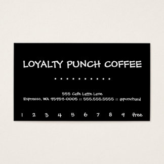 Cherry Moon Loyalty Black Coffee Punch-Card
