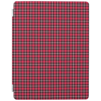 Cherry Red and Black Sporty Plaid iPad Cover