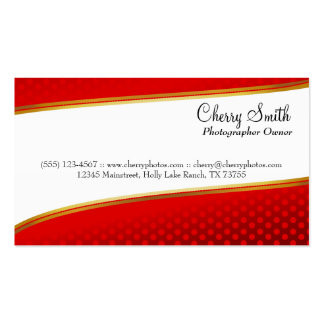 Cherry Red Modern Card Pack Of Standard Business Cards