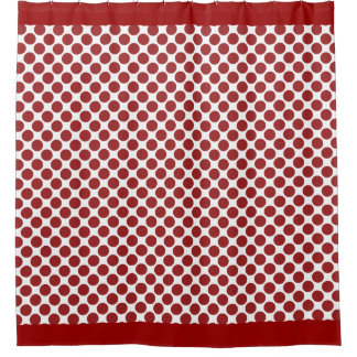 Cherry Red Polka Dots Shower Curtain