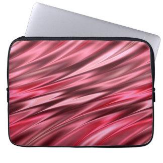 Cherry red satin pattern laptop sleeve
