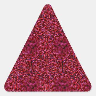 Cherry Red Triangle Sticker