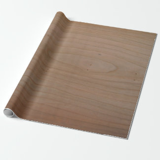 """Cherry Wood Print Wrapping Paper, 30"""" x 6' Wrapping Paper"""