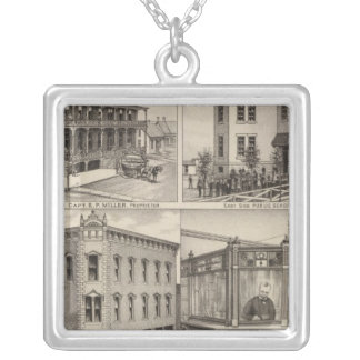 Cherryvale, Kansas Silver Plated Necklace