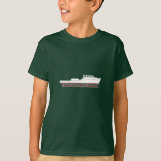 Chesapeake Bay Deadrise Boat (red and white) T-Shirt