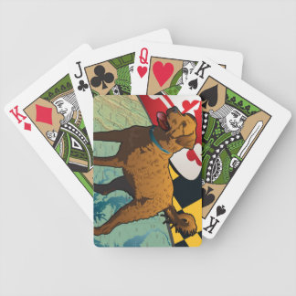 "Chesapeake Bay Retriever of Maryland, ""Chessie"" Bicycle Playing Cards"