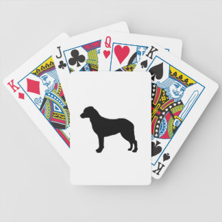 Chesapeake Bay Retriever Silhouette Love Dogs Bicycle Playing Cards