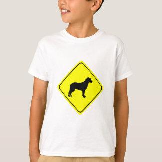 Chesapeake Bay Retriever Warning Sign Love Dogs T-Shirt