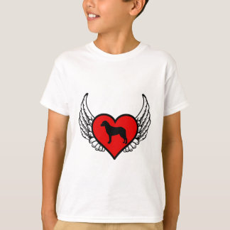 Chesapeake Bay Retriever Winged Heart Love Dogs T-Shirt