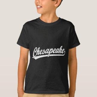 Chesapeake script logo in white T-Shirt