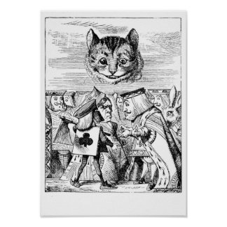 Cheshire Cat and Royalty Poster