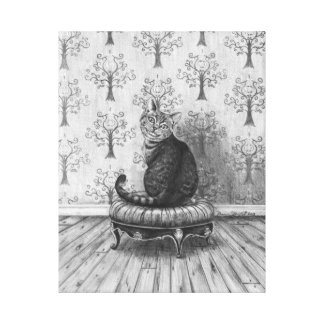 Cheshire Cat Art Canvas Alice in Wonderland Art