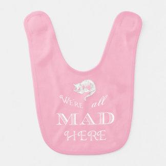 Cheshire Cat Mad Alice Pink Bib