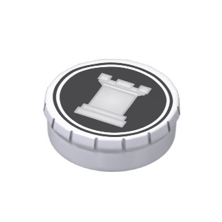 Chess Piece White Rook Jelly Belly Tin