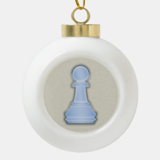 Chess Shiny Blue Glass Chess Pawn Ceramic Ball Decoration