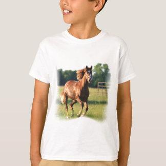Chestnut Galloping Horse Kid's T-Shirt
