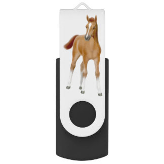 Chestnut Horse Foal USB 64GB Flash Drive Swivel USB 3.0 Flash Drive