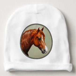 Chestnut Morgan Horse Baby Beanie