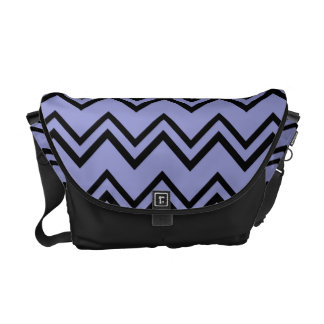 Chevron 2 Violet Tulip Messenger Bag