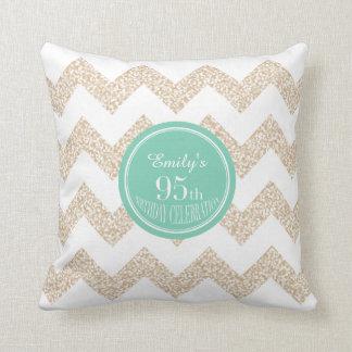 Chevron 95th Birthday Celebration with Name Pillow