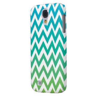 chevron bluegreen vintage HTC vivid tough Galaxy S4 Case